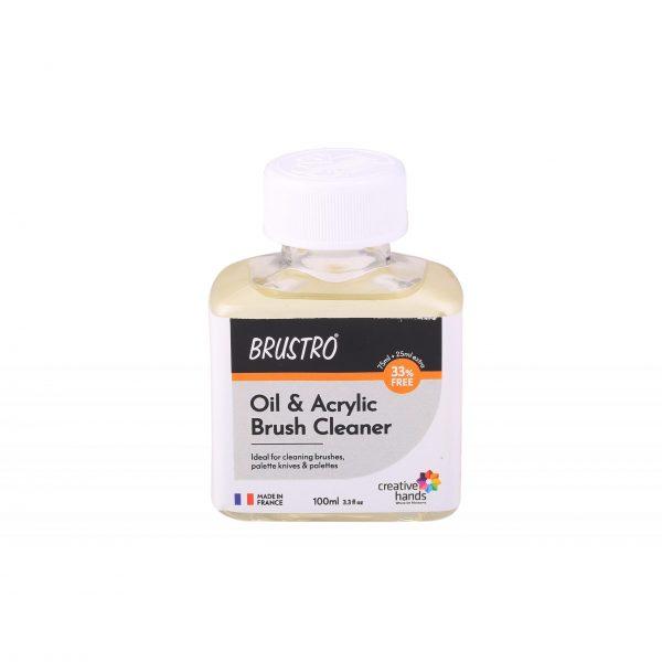Brustro Oil and Acrylic Brush Cleaner 100ml (75ml)