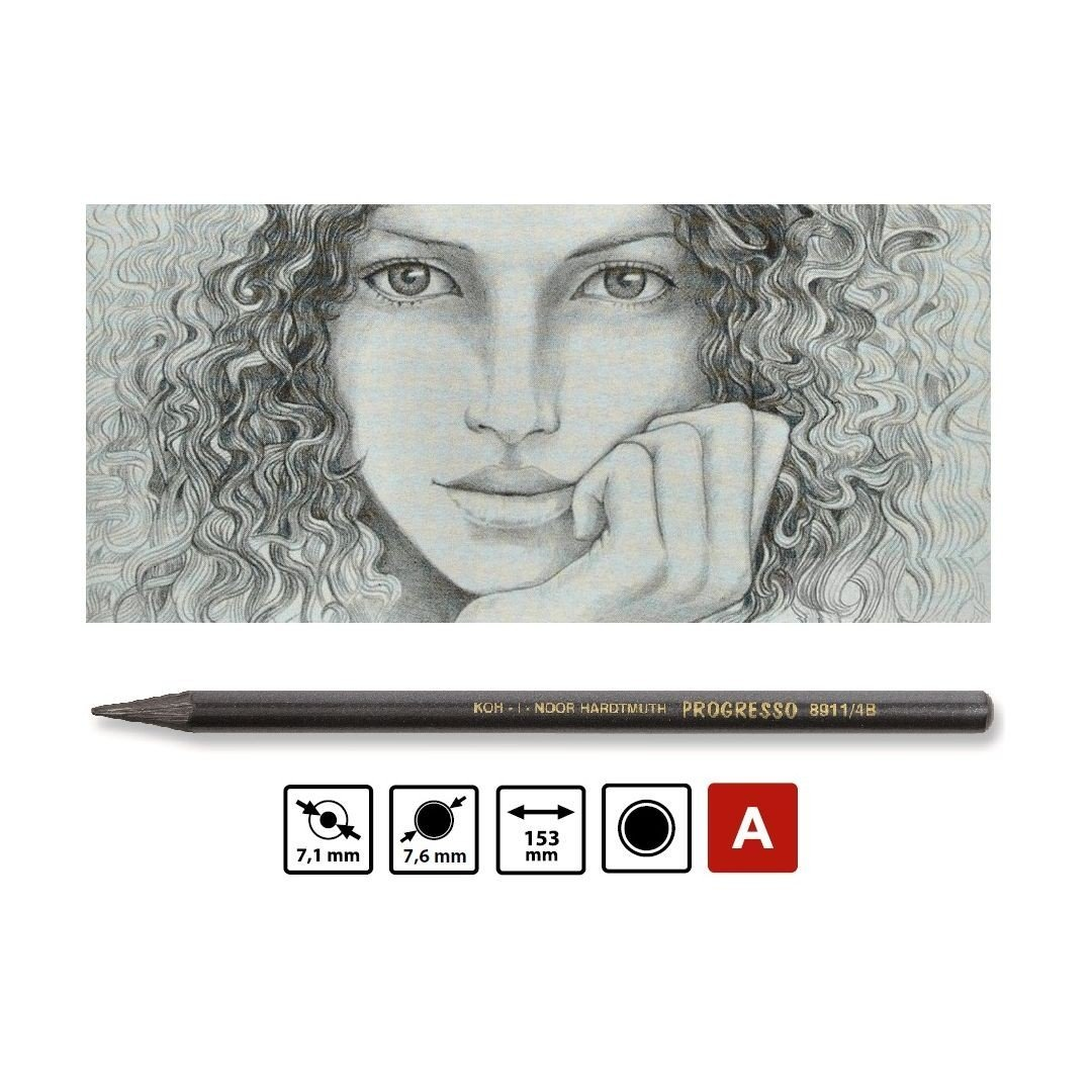 Koh-I-Noor Progresso Professional Woodless Graphite Pencil - 6B - Pack of 1