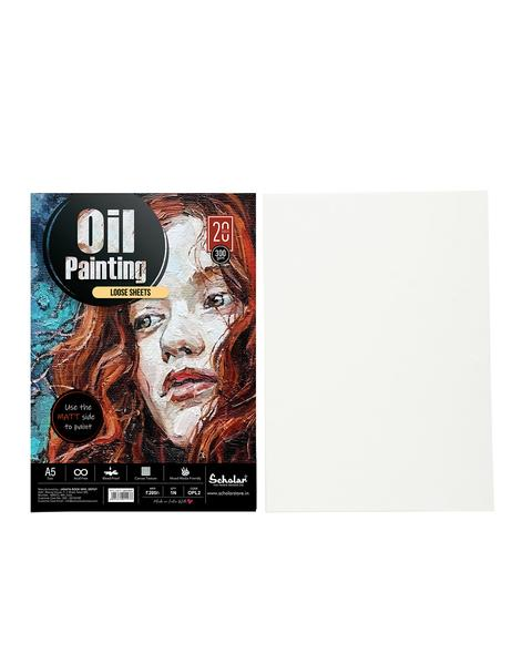 Scholar A5 OIL PAINTING LOOSE SHEETS - 300 GSM (OPL2)