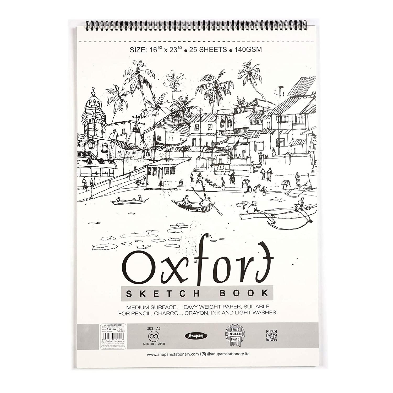 Anupam Oxford Sketch Pad Book A2 -25 Sheets 140 GSM