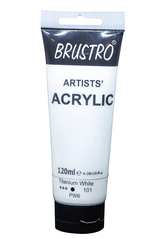Brustro Artists Acrylic 120ml Titanium White