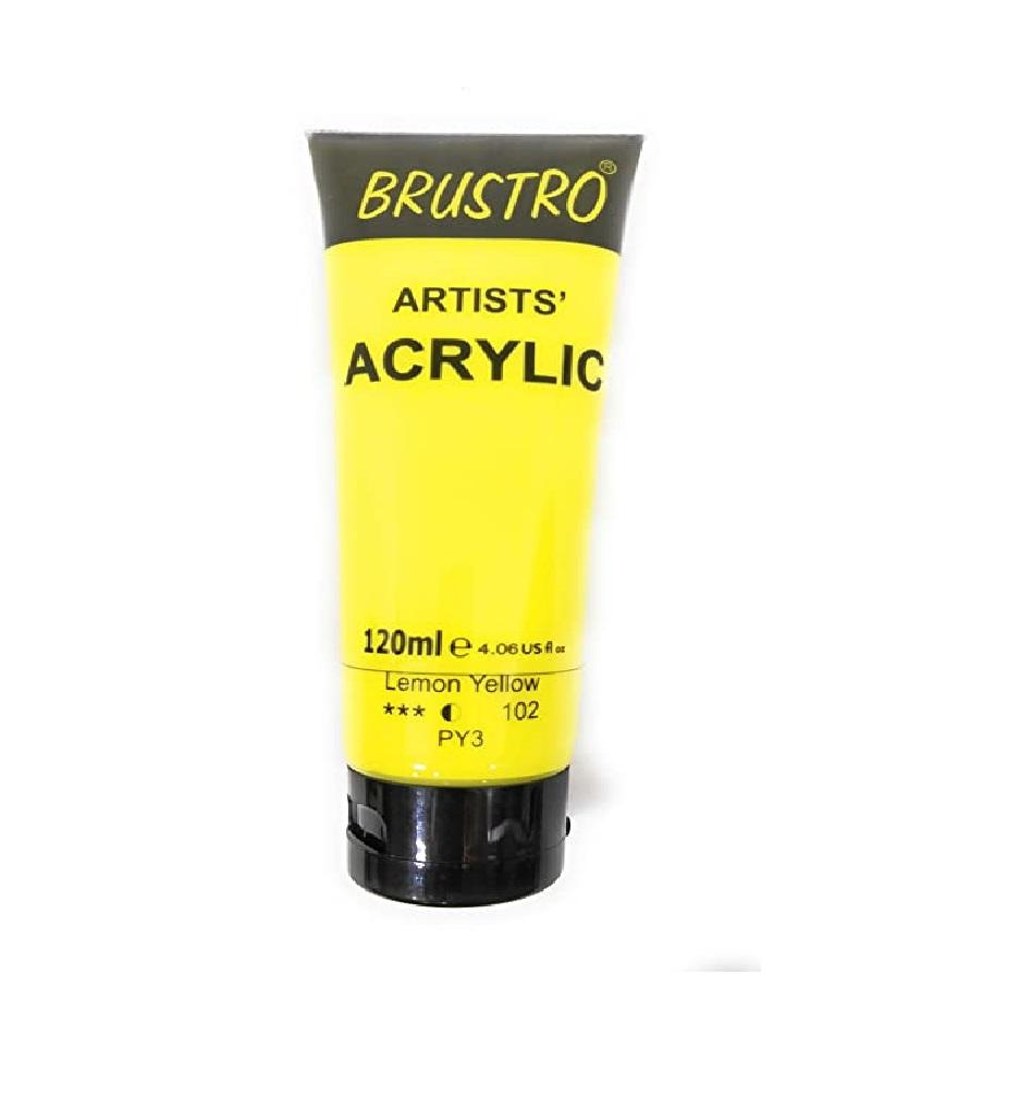 Brustro Artists Acrylic 120ml Lemon Yellow