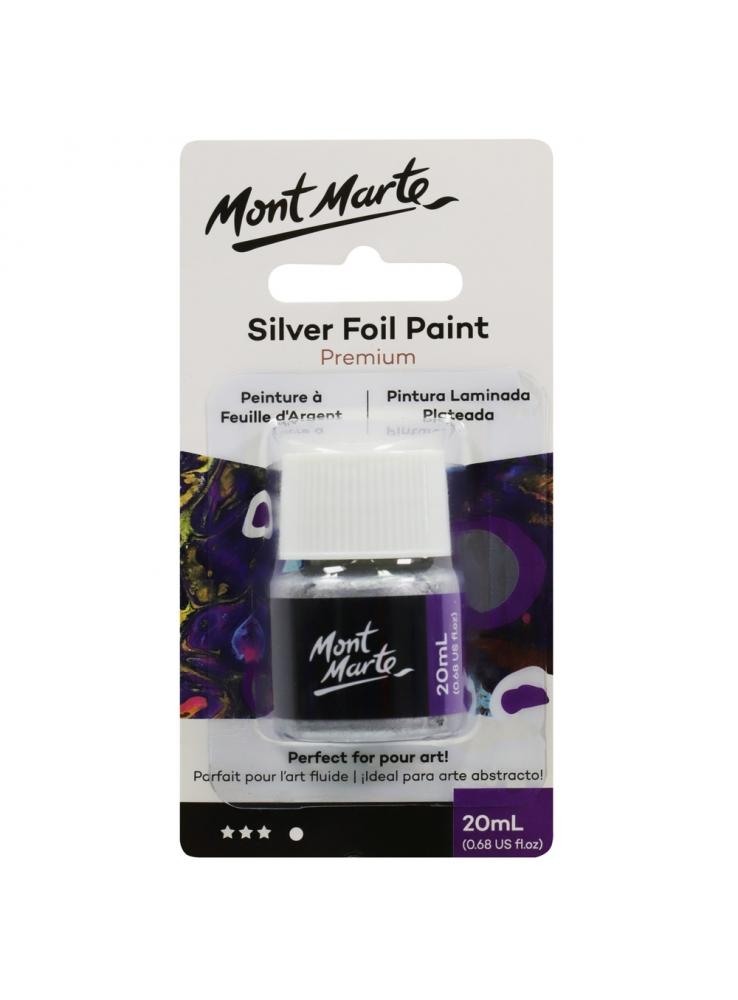 Mont Mart Premium Silver Foil Paint 20ml