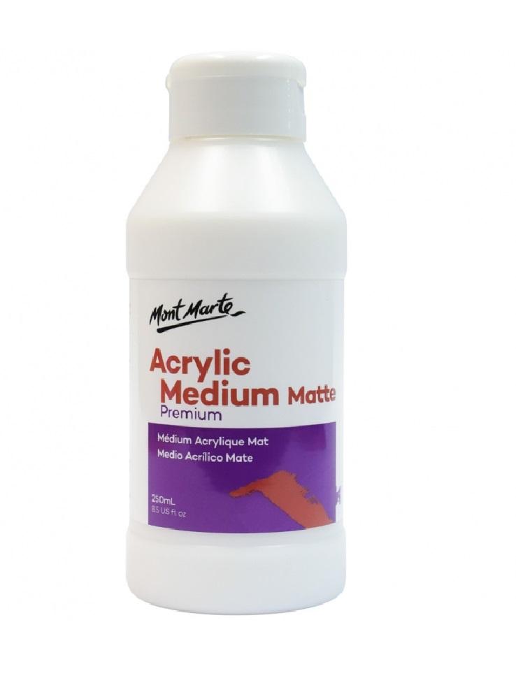 Mont Marte Premium Acrylic Medium Matte 250ml (8.5oz)