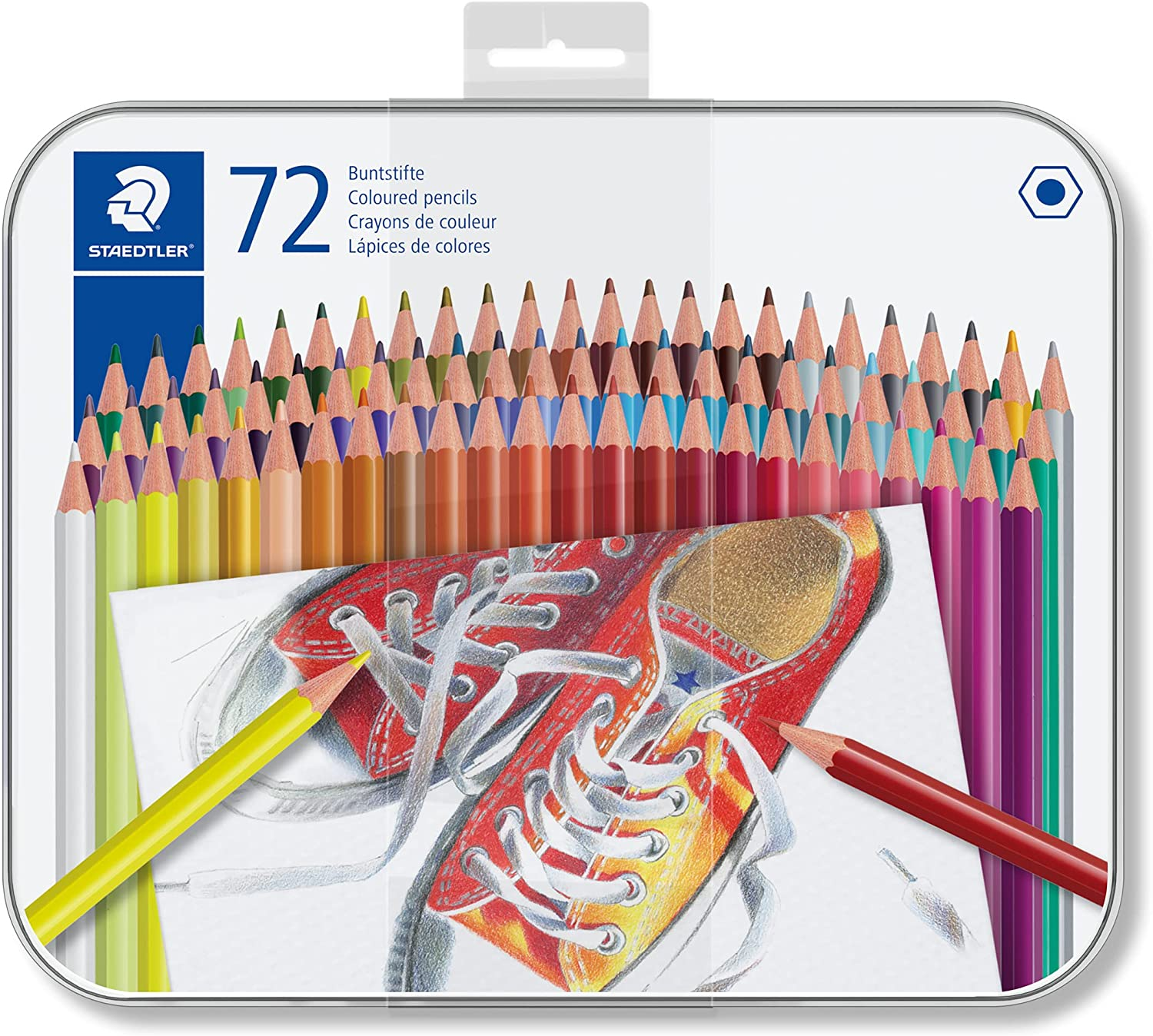 STAEDTLER 175 M72 Coloured Pencils, Assorted Colour, Pack of 72