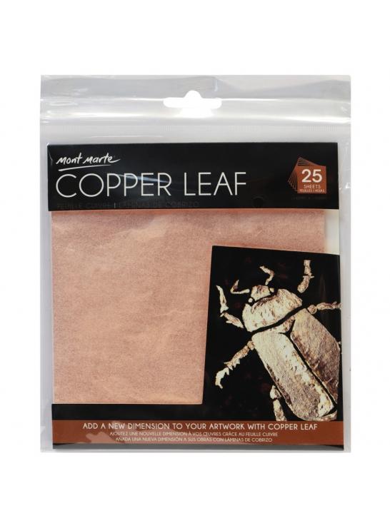 Mont Marte Copper Leaf 14x14cm 25 Sheet