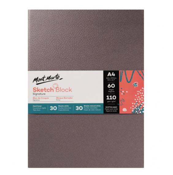 Mont Marte Signature Sketch Block Hard Cover A4 60 Sheets