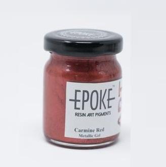 Carmine Red - EPOKE Art Resin Metallic Gel - 75g