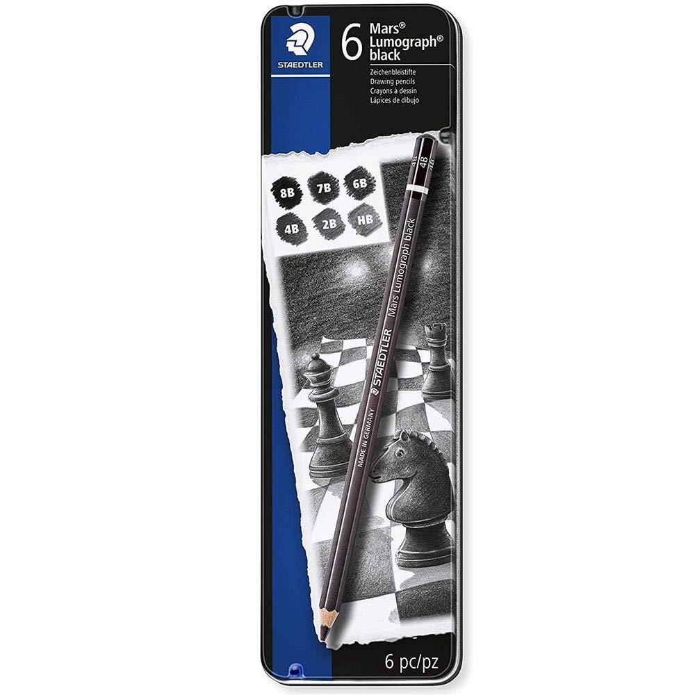 Staedtler Mars Lumograph Artists Pencils - Pack of 6  100B G6