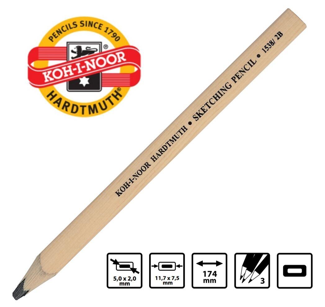 Koh-I-Noor Sketching Pencil 1538/6B Flat