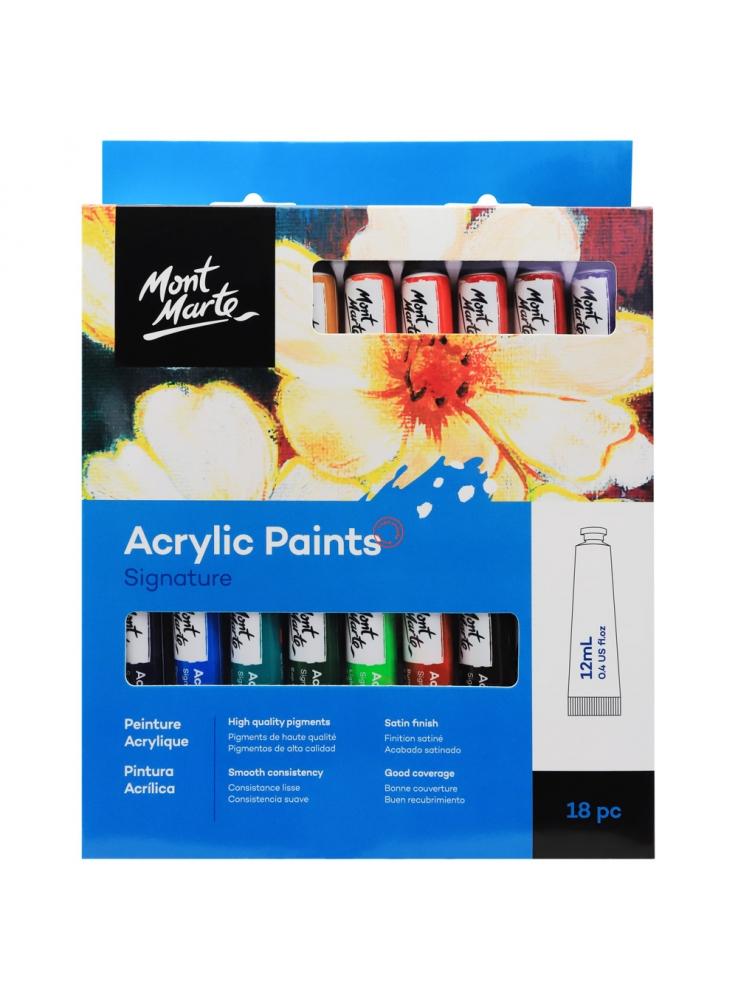 Mont Marte Acrylic Paints 18pce x 12ml