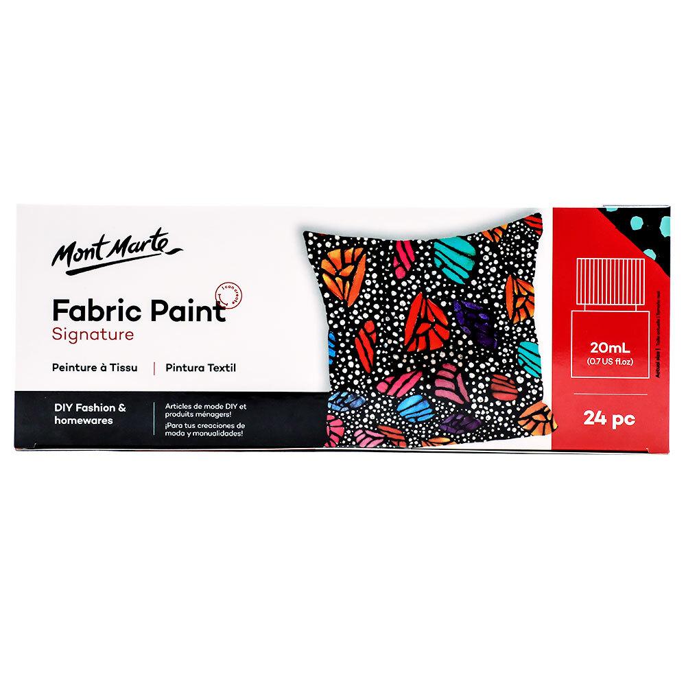 Mont Marte Signature Fabric Paint Set - 24pc x 20ml