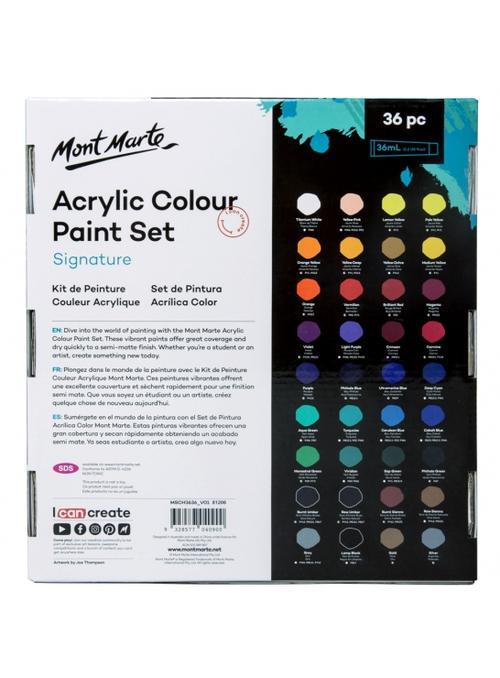Mont Marte-Acrylic Color 36 Color X 36ml