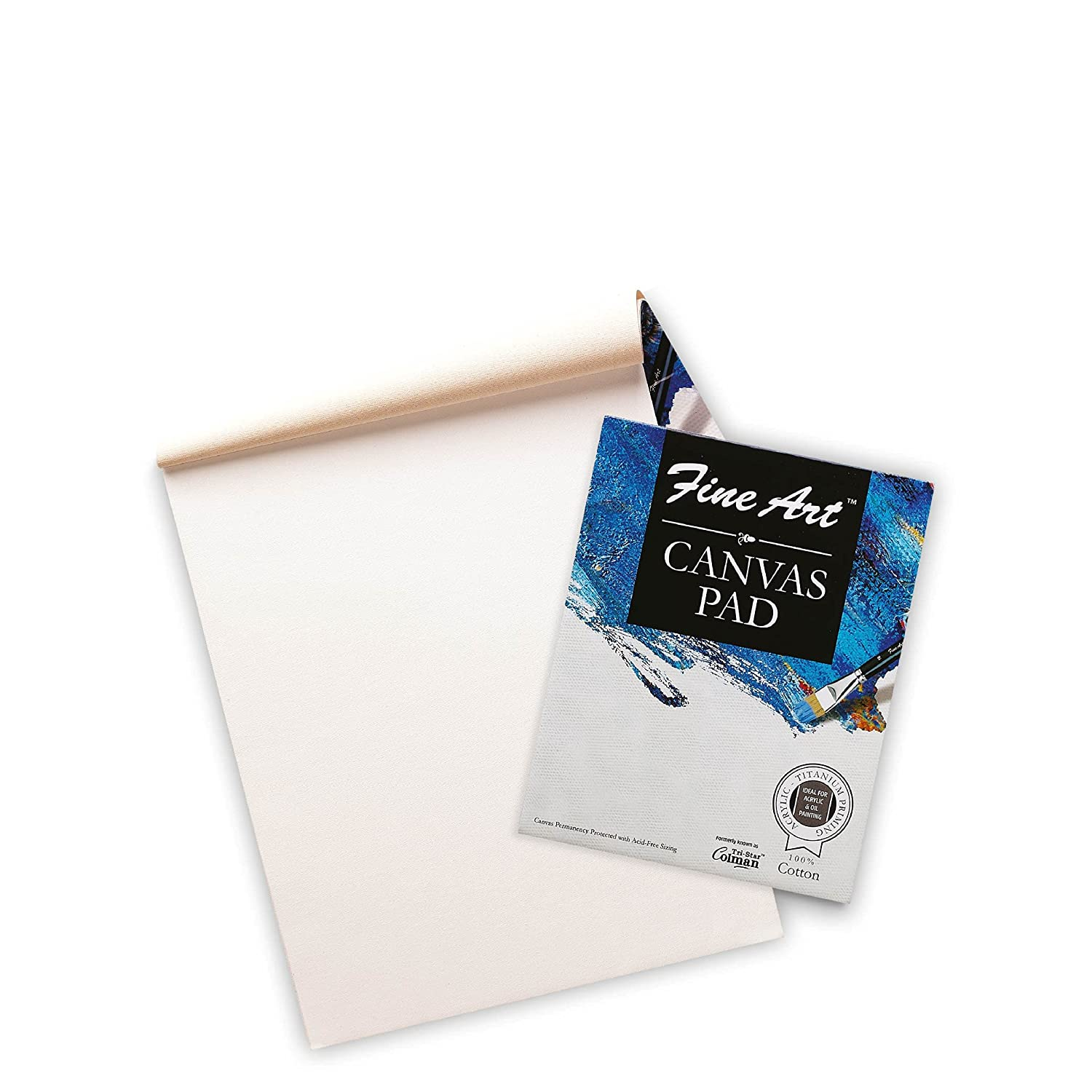 Fine Art Heavy-Weight Acrylic Painting Canvas Pad (9 X 12 Inch)